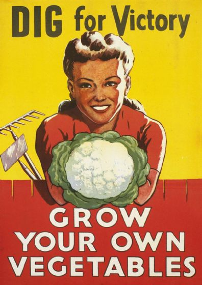 Dig for Victory, Grow Your Own Vegetables. Vintage Print/Poster (4935)